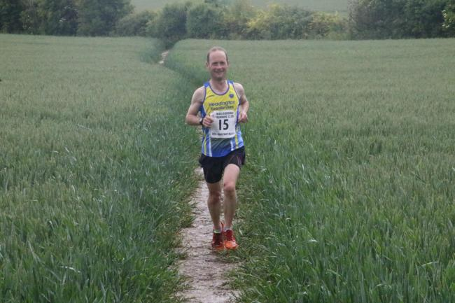 Headington RR's James Eve during the Ridgeway Relay Picture: Barry Cornelius