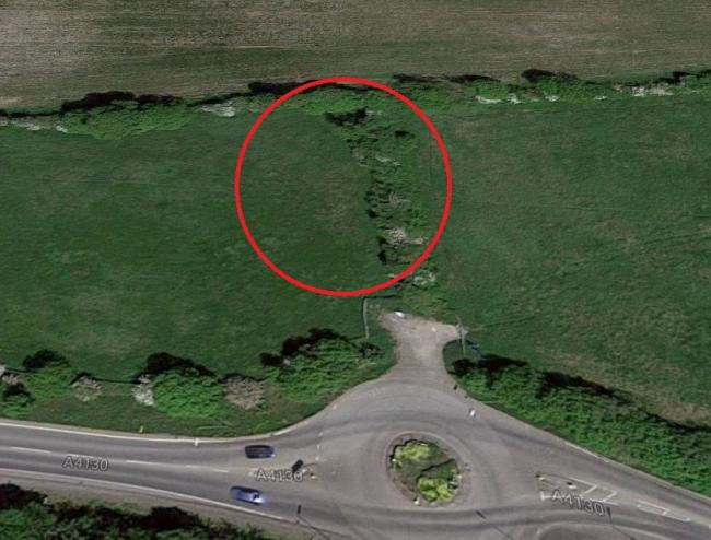It is understood police were referring to this patch of woodland. Pic: Google Maps