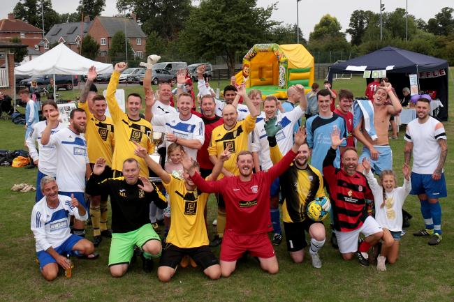 Some of last year's players at the Charlie Allum Memorial Day in Crowmarsh Gifford, where three football events will take place today. Picture: Ric Mellis