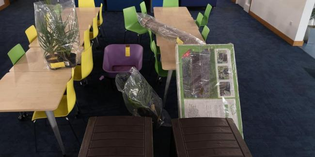 The garden items recovered by police Picture: Twitter/@tvpsouthandvale