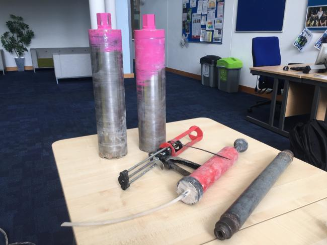 The tools police seized. Picture by Thames Valley Police/ TVP South and Vale
