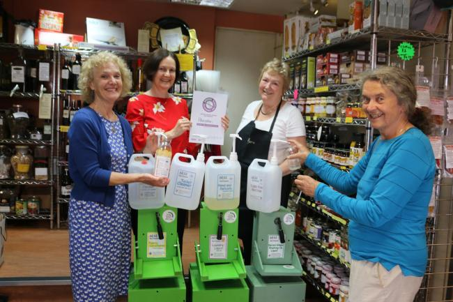 Anne Smart, Caroline Townsend, Jill Carver owner of Added Ingredients shop, and Sally Reynolds