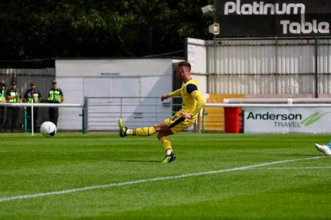 Elliott Frear scores for Oxford United at Woking on SaturdayPicture: Jack Brown