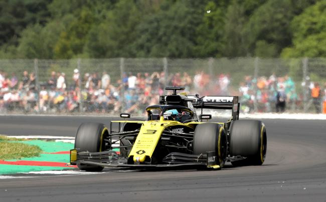 Daniel Ricciardo on the way to seventh place at Silverstone for the Enstone-based Renault team Picture: Bradley Collyer/PA Wire