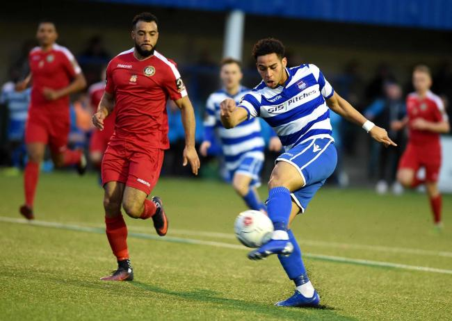 Sam Nombe, in action during a loan spell with Oxford City, scored against them for MK Dons Picture: Mike Allen