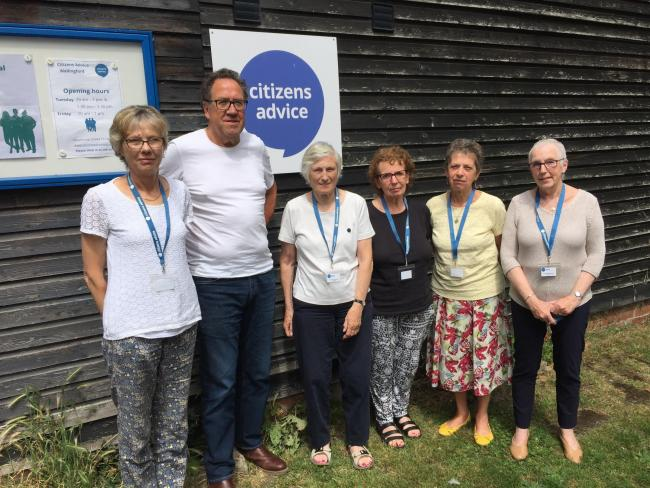 Left to right: Supervisor Jill and volunteers advisors Alan, Vivien, Bernice, Sue and Jane. Picture: Citizens Advice