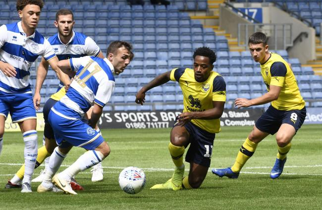 Oxford United's Tariqe Fosu on his home debut against QPR  Picture: David Fleming