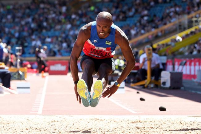 Oxford City AC triple jumper Nathan Douglas has won seven gold medals at the British Championships Picture: Martin Rickett/PA Wire