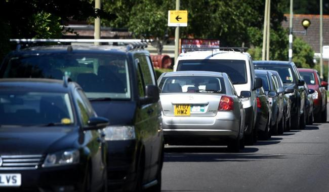 File photo of cars lining a residential street in Didcot. Picture: Richard Cave