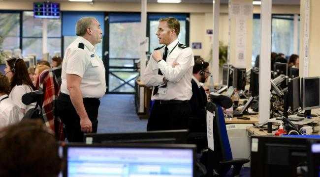 Above: File photo of the Thames Valley Police call centre in Kidlington.