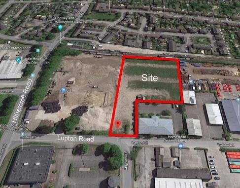 The proposed site for a new builders merchant and trade centre on Hithercroft Industrial Estate, Wallingford. Picture: Location 3 Properties Ltd/ Simply Planning