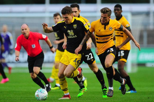 Josh Ruffels on the attack in Oxford United's second-round Carabao Cup victory last season  Picture:  Tom Sandberg/PPAUK