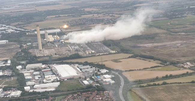 WATCH: Incredible new footage as pilot films Didcot demolition from above