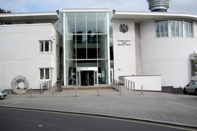 Exeter Crown Court stock image