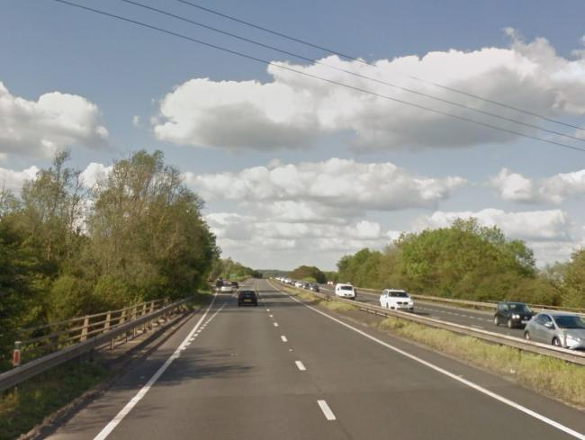 The A34 northbound on the approach to Marcham Interchange. Pic: Google Maps