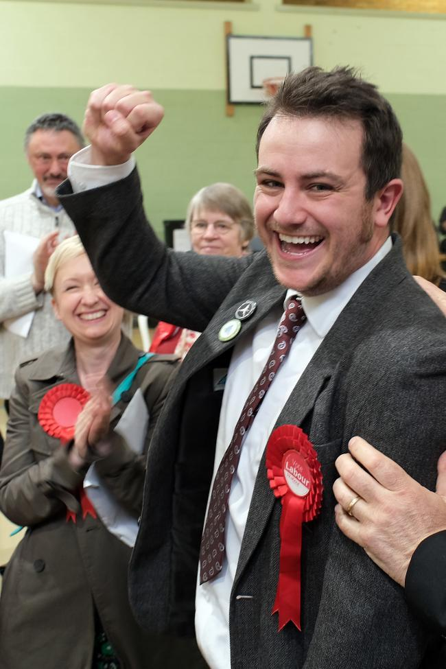 Owen Collins after winning his Witney South district council seat
