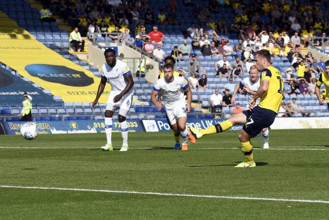 James Henry puts Oxford United ahead with a penalty against Tranmere Rovers  Picture: David Fleming