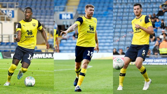 Shandon Baptiste (left), Jamie Mackie (centre) and Elliott Moore could all return for Oxford United on Saturday  Pictures: David Fleming