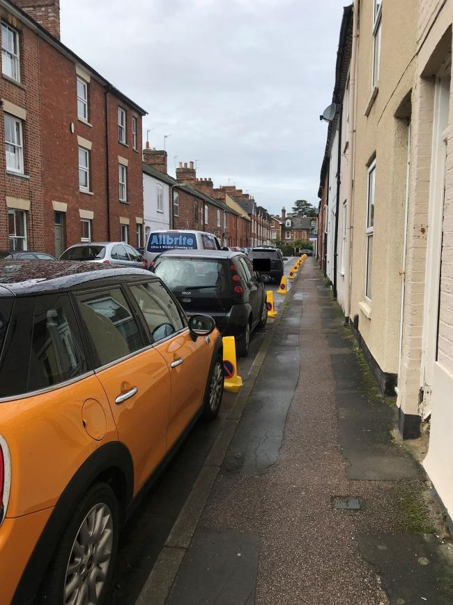 Cars parked next to the coned-off area. Picture: Thames Valley Police/ TVP South and Vale via Facebook
