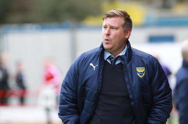 Oxford United head coach Karl Robinson  Picture: Richard Parkes