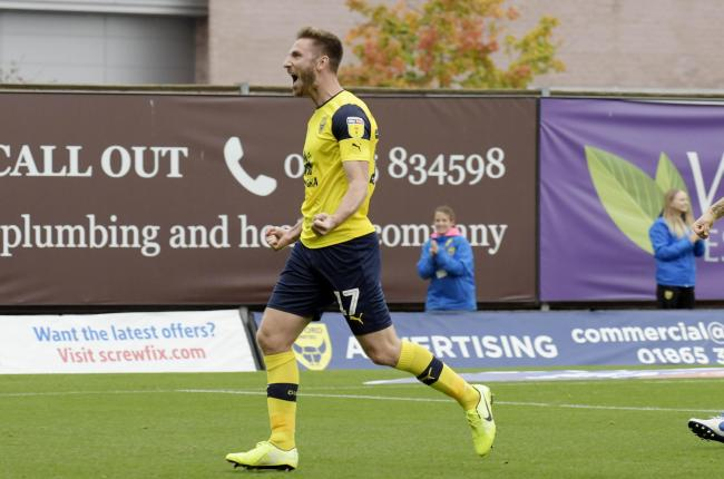 James Henry celebrates his first goal of the afternoon  Picture: David Fleming