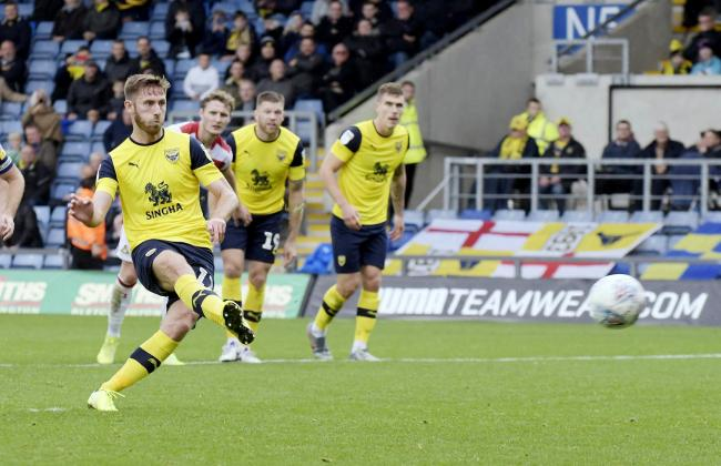 James Henry converts – just – his penalty against Doncaster   Picture: David Fleming