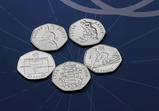 Herald Series: The rarest 50p coins. Credit: Royal Mint/PA Wire