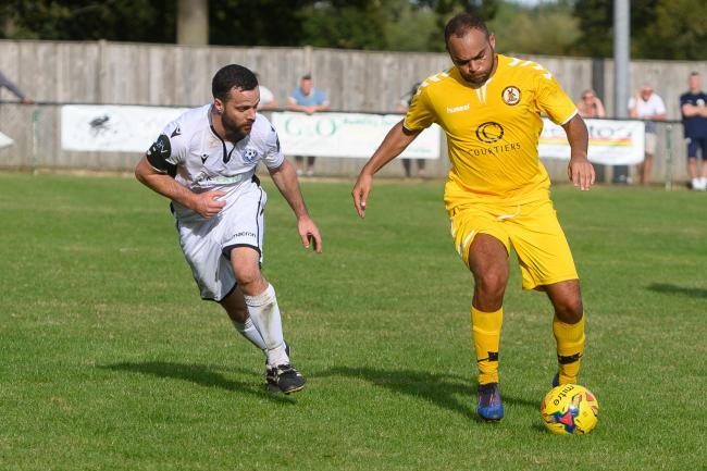 Morgan Williams opened the scoring for North Leigh    Picture: Richard C ave