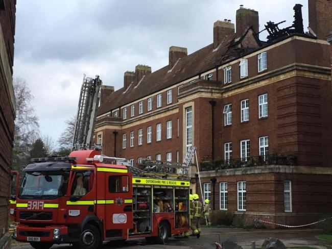 File photo of Oxfordshire fire service tackling a fire at a block of flats on Woodstock Close off Woodstock Road, Oxford, in December 2018. Picture: Oxfordshire Fire and Rescue Service