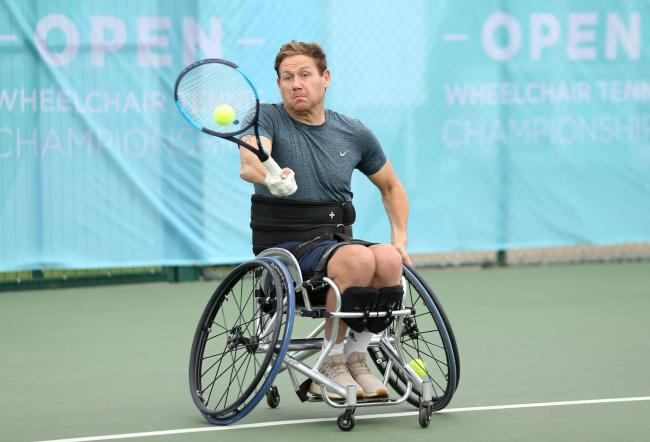 Antony Cotterill is among the leading British players at the tournament in Abingdon   Picture: LTA