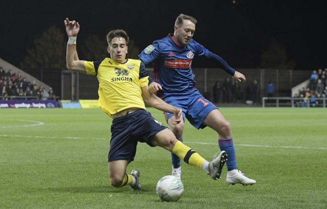 Alex Gorrin returns for Oxford United's trip to MK Dons Picture: David Fleming