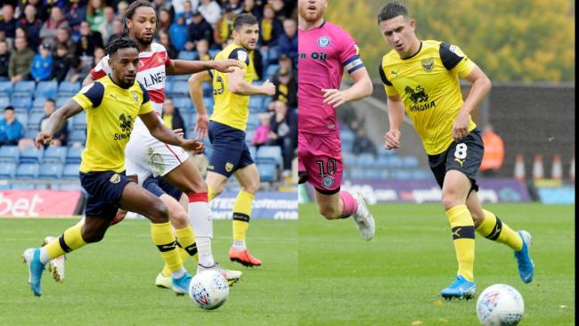 Oxford United's Tariqe Fosu (left) and Cameron Brannagan are in the running for an award   Pictures: David Fleming