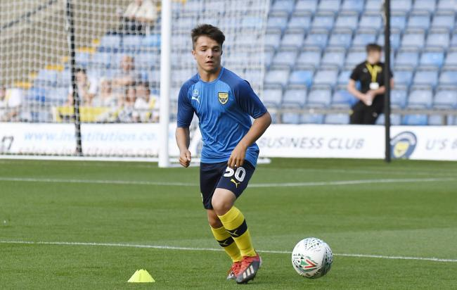 Tyler Goodrham was among the starters last night who have been included in Oxford United's first team squad  Picture: David Fleming