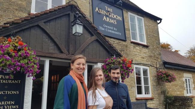 Manager Sophie, sommelier Vicky and chef Alex are the new managers of the community-owned Addington Arms pub in Beckley