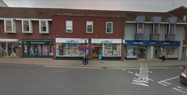 Herald Series: The crash happened outside Savers in Market Place, Wantage. Pic: Google Maps