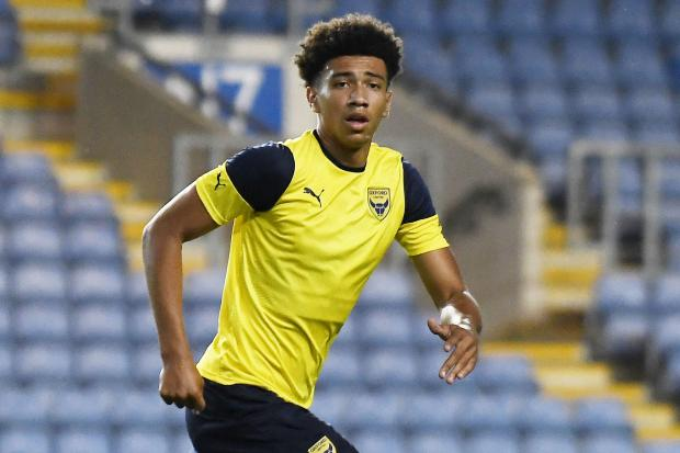 Nico Jones will become what is thought to be Oxford United's youngest captain tonight when the 17-year-old lead them out at Crawley Town   Picture: David Fleming