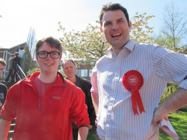 Jonny Roberts, Labour candidate for Wantage and Didcot.