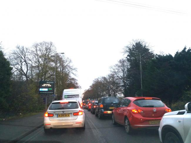Delays of up to 30 minutes on Botley Road