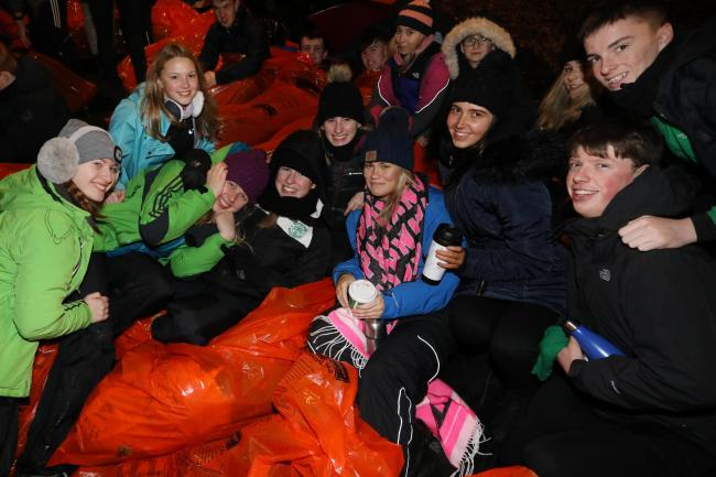 Edinburgh sleep-out participants