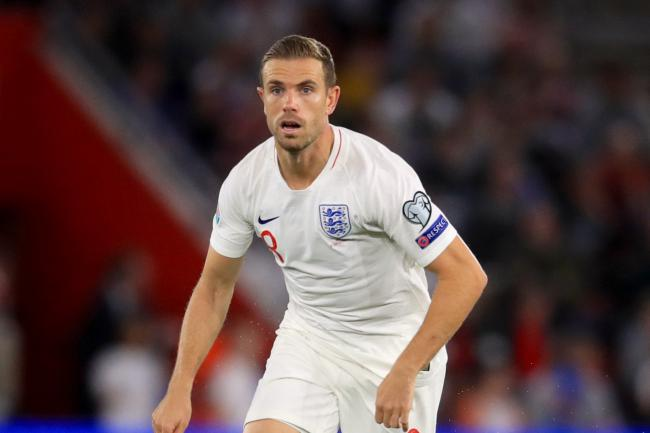 Jordan Henderson in action for England