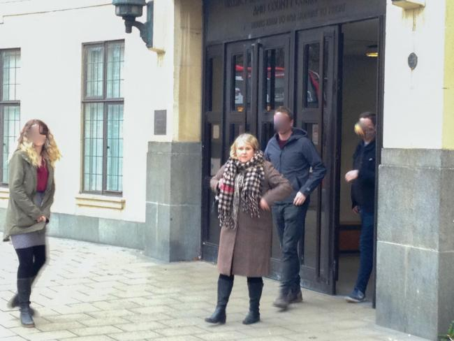 Amanda Day outside Oxford Crown Court after her sentencing hearing