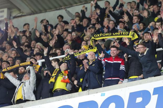 Oxford United v Newcastle. Fans at the final whistle   - Pic by Richard Parkes
