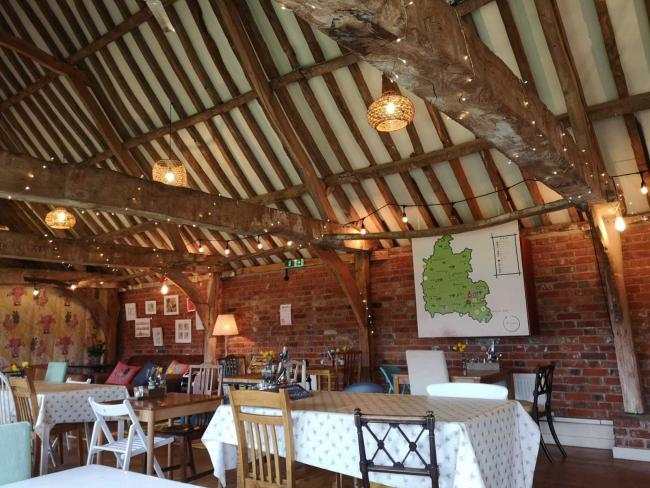 The Cartshed Cafe, Preston Crowmarsh, near Wallingford. Picture: Sophie Grubb