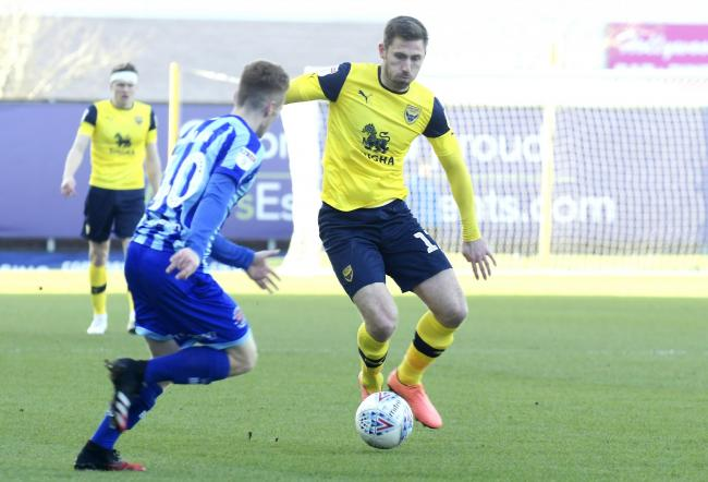 James Henry in action for Oxford United against Blackpool on Saturday   Picture: David Fleming