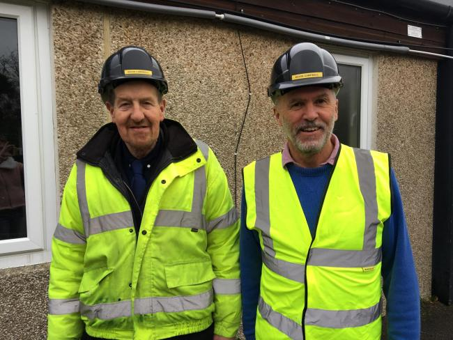 Kevin Campbell, MD Group's Site Manager and Stephen White, Blewbury Refurbishment Team Leader.