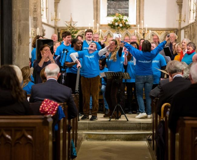 Soundabout Inclusive choir singing. Picture: Rob Farrands