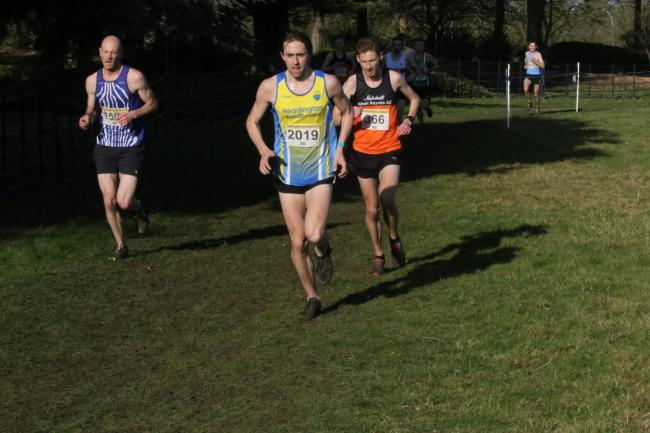 Headington Road Runner Duncan Lawrence finished 18th at match five of the Chiltern Cross Country League in Milton Keynes Picture: Barry Cornelius