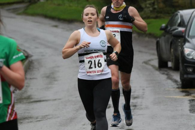 Helen Sharman, of Hook Norton Harriers, at Race 5 of the Tempo Winter Series Picture: Barry Cornelius