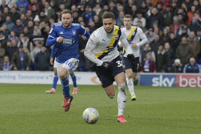 Marcus Browne on the run during Oxford United's win at Ipswich Town   Picture: David Fleming