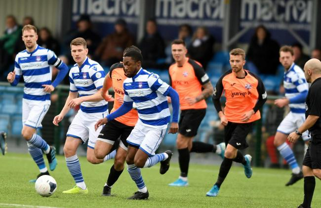 AJ George on the attack for Oxford City against Tonbridge Angels last month    Picture: Mike Allen